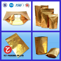 foil bags for food packaging with zipper and tear notch