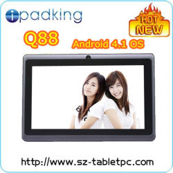 Low Cost Tablet PC Q88 All Winner A13 1.2GHz 7inch Screen Tablet PC Android 4.1