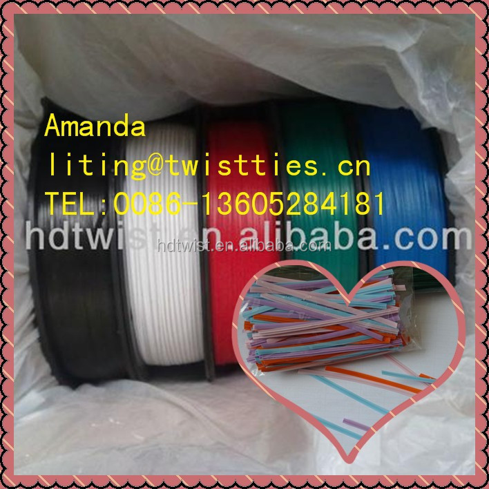 PLASTIC/ PE twist ties for packing frozen bags 4252