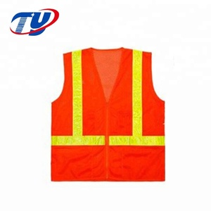 New High Visibility Safety Orange Warning Vest