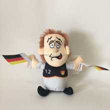 Germany Football Player Plush Toy With Repeating Function Speaking Charcter