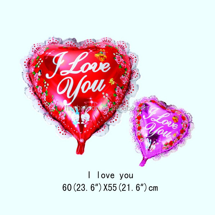 I LOVE YOU heart shaped custom wedding Favors Party Decorations Balloons