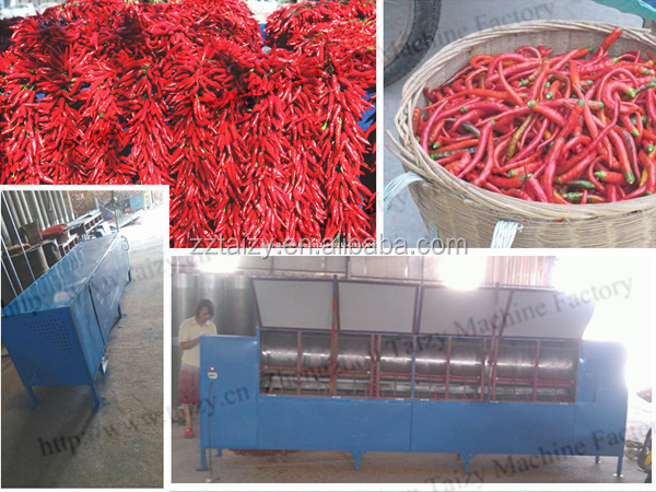 Low price chillis stem cutting machine and black pepper stem removing machine for sale