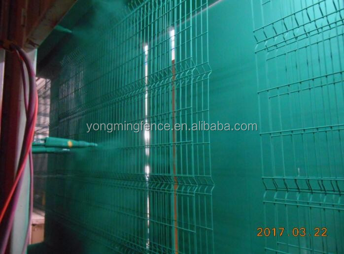 Safety galvanized powder coated welded wire fence
