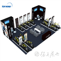 Detian Offer Las Vegas fashion motor car display stand booth expo design for trade show and fair