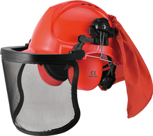 Comprehensive protection safety helmet CE ANSI approved head protection ear muffs combination set