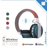 Cell phone accessory colorful folding stereo wireless bluetooth headset for samsung galaxy