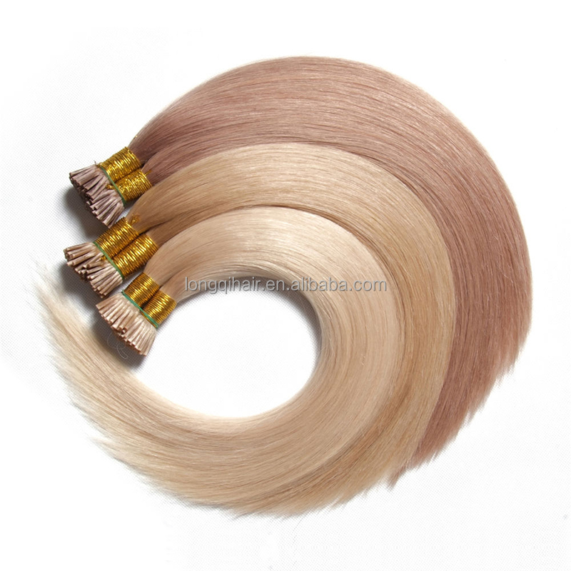High quality pre bonded i tip hair extension maxi brazilian keratin hair wholesale
