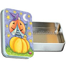 Halloween holiday biscuit tin box