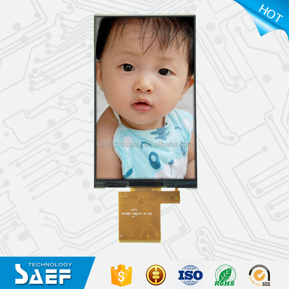 5.88 inch TFT lcd display 480*800 CPU _24 Bit interface display high quality lcd screen panel