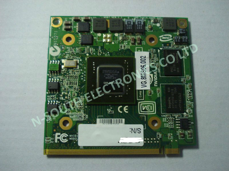 100% working mxm ii ddr2 256mb 8400m gs laptop pci VGA card for acer G86-604-a2