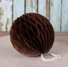 2016 Brown Handmade Honeycomb Paper Ball For Party Decoration