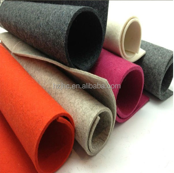 China thick nonwoven polyester wool needle punched felt sheets supplier