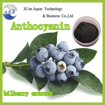 Organic Blueberry Extract, Billberry Extract, Anthocyanidin+Lutein, CAS No. 4852-22-6