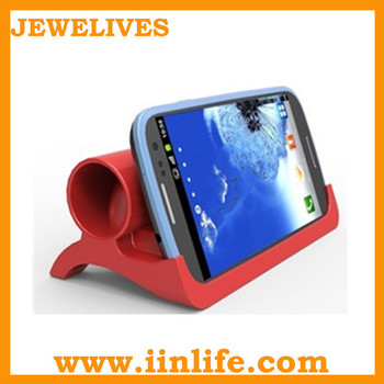 Portable silicone phone amplifier samsung speaker