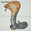 Keering Custom Large Snake Reversible Sequin Embroidery applique Patches for Men Clothes WEFB-515