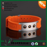 2016 Global Sale Eco-Friendly Silicon Magnetic Ion Power Bracelet