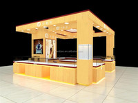 Modern customized wooden luxury showroom display cabinet and showcase for jewelry shop