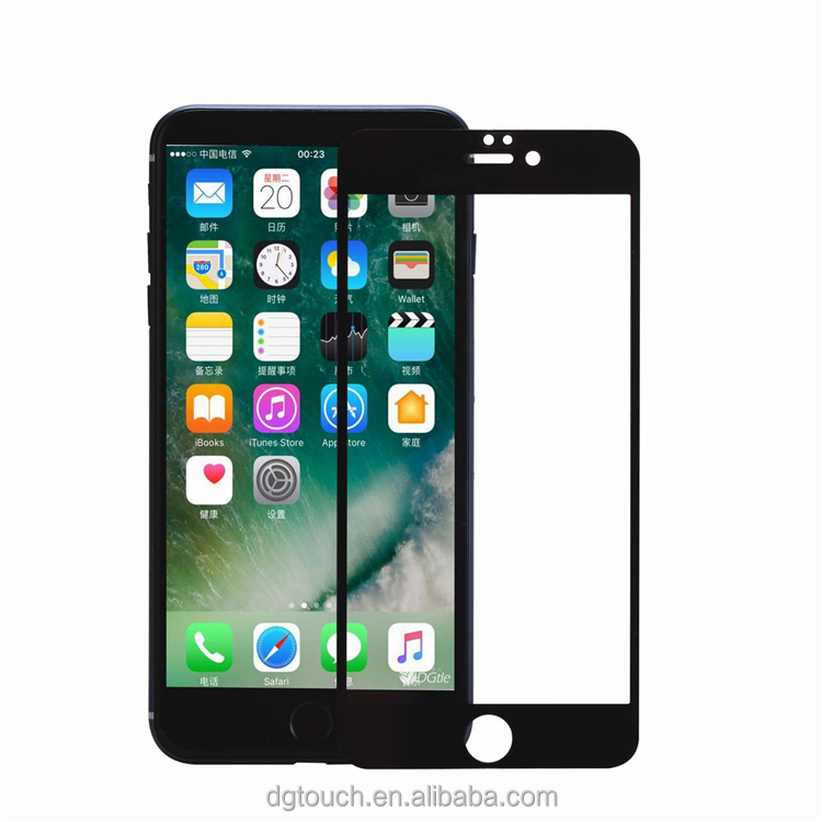 Secondary Reinforcement 5D Tempered Glass Screen Protector For iPhone 7 7plus