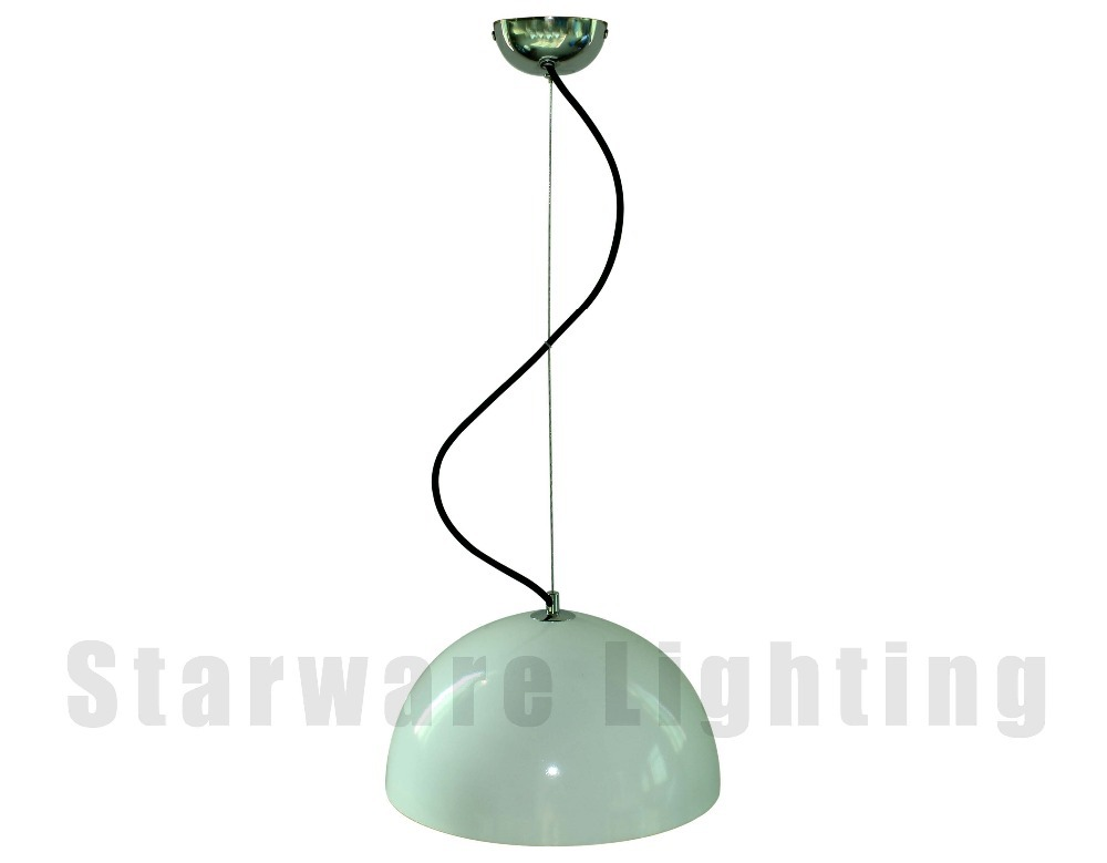 Modern Ancient Light Metal Pendant Lamps with Fabric Wire,Iron Painted Pendant Light