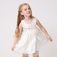 2016 OEM services 2 year old flower girl dresses with bow , wholesale summer child kid 12 year old baby girl summer dress