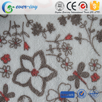 High Quality fabric material 100% polyester printed coral fleece dyed for blankets