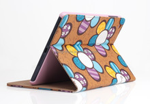 Wholesale 5 Colors Flowers Cover Holster For Apple iPad with Stand Function Case PU Leather Case For IPad 2 3 4