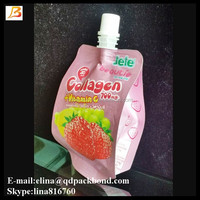 Cheap price jelly packaging spout bag 150ml 200ml stand up juice pouch with cap