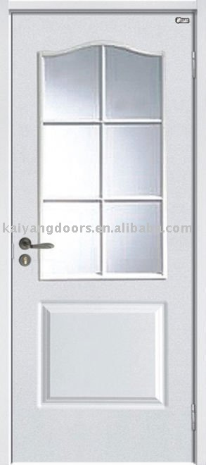moulded glass inserted door