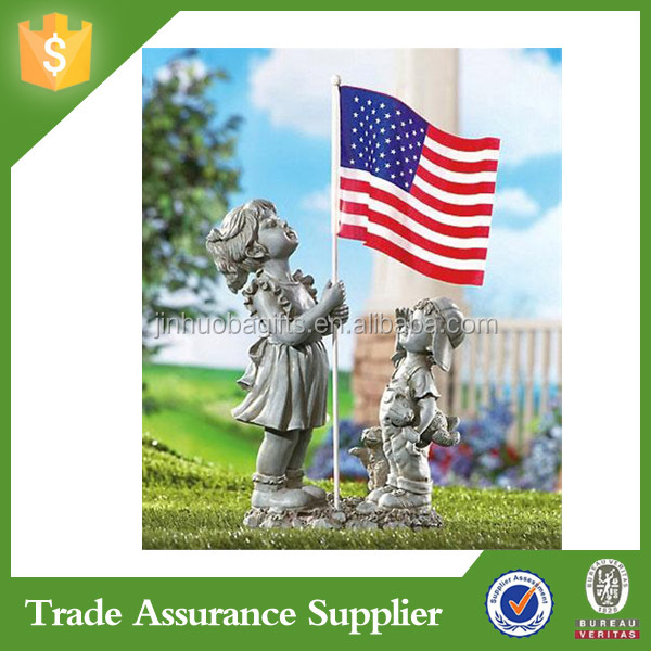 Top quality boy and girl resin material garden statue molds