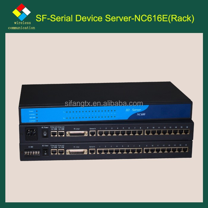 Industrial control solutions/ computer room monitor system/SF-NC616E 16 RS232 to Ethernet/16 ports RS232 converter