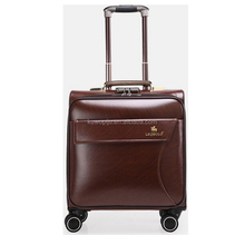 LAPTOP LEATHER TROLLEY HAND LUGGAGE FLIGHT CABIN BUSINESS TRAVEL CASE