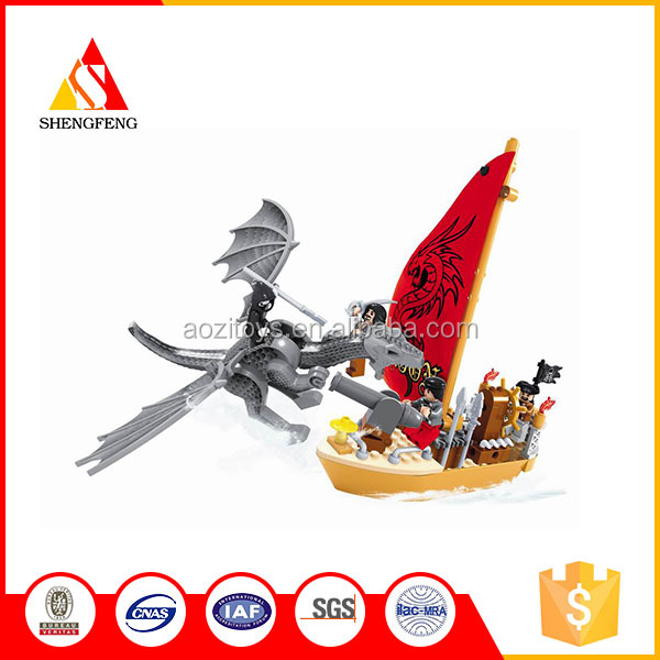new design educational toys pirate team block toys for the kids