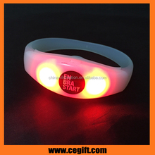 Newest Fashionable colorful Xyloband controller led flashing concert bracelet led remote silicon bracelet for party