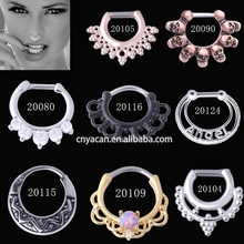 Factory Prices Unique Cubic Zirconia Jewelled Gold Nose Ring