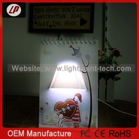2014 DIY Desk LED Lamp Page By Page Lamp Calendar Lamp and Usb Power Calendar LED table lamp