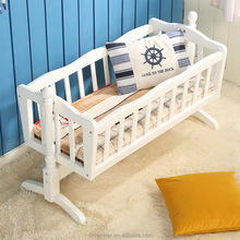 High quality wooden baby cot bed baby swing bed