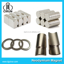 Arc bar disc cylinder ring shape super strong permanent n52 neodymium magnet