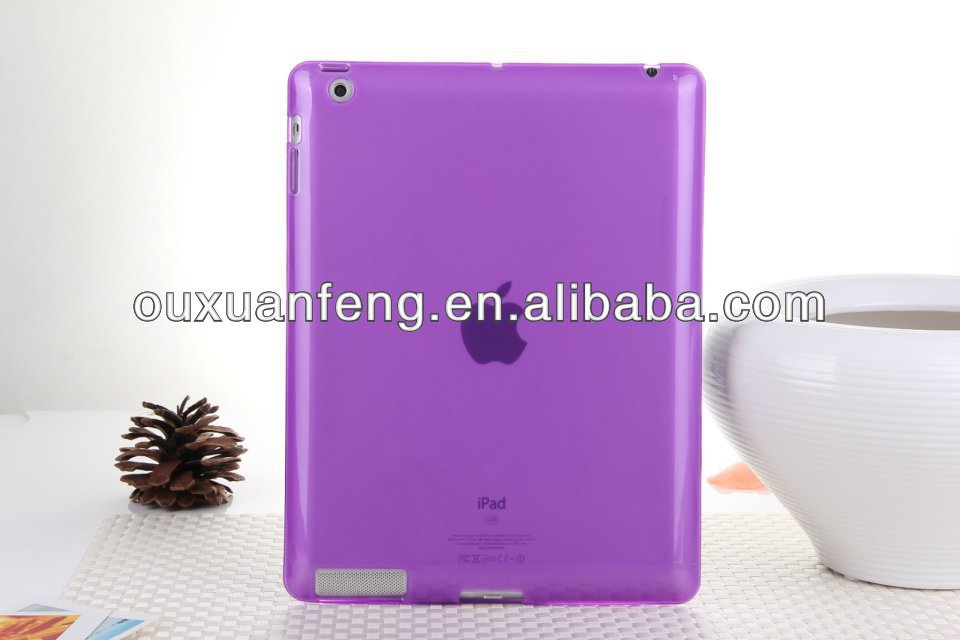 New Arrival Wholesale Pure Color TPU Case for iPad 2,3,4,5