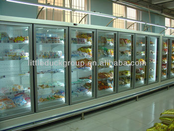 Refrigeration display cabinet with glass doors and LED light-E6ATLANTA