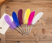 Hot selling souvenir feather penfor gift promotional feather pen