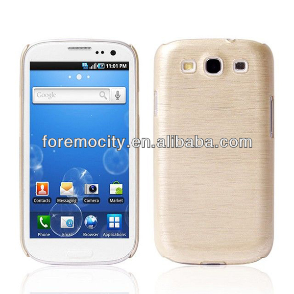 Luxury brushed hard pc phone case for samsung s3