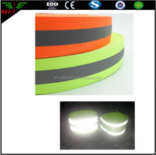 strong stretchy elastic reflective webbing traffic safety wear clothing reflecting stripe
