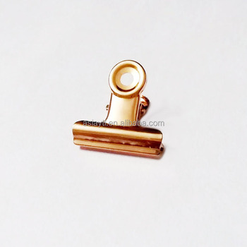 rose gold strong metal spring clip advertising small paper clips 30mm