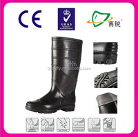 2015 NEW transparent new pvc rain boot,lightweight safety boots