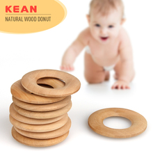 Eco-frendly New Style Baby Chewable Teething Beads DIY Loose Wooden Jewelry