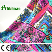 Mulinsen Textile Hot Sell FDY Knitting Jacquard Printing Fair Trade Fabric