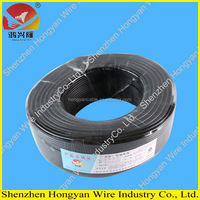 PVC insulated electrical wire/cord/cable H03VVH2-F flexible flat cable