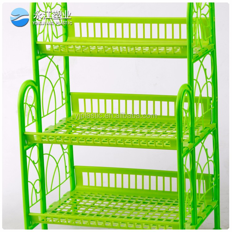 wholesale kitchen utensil chrome dish rack kitchen fruit and vegetable display rack