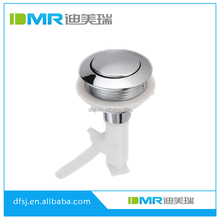 ABS polished chromed toilet Top Single Push Button